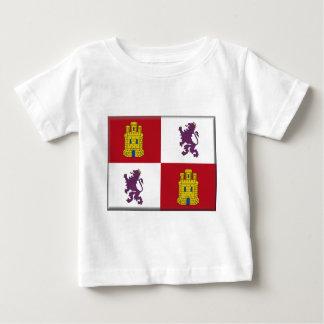 Flagge Kastiliens y Leon (Spanien) Baby T-shirt