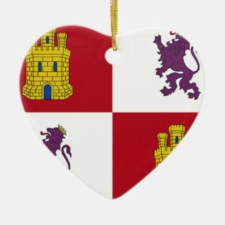 Flagge Kastiliens y Leon (Spanien) Keramik Ornament