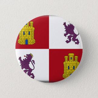 Flagge Kastiliens y Leon (Spanien) Runder Button 5,1 Cm