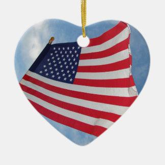 Flagge kennzeichnet keramik Herz-Ornament