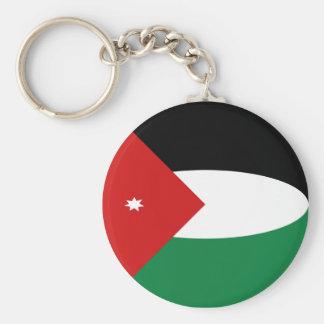 Flagge Keychain Jordaniens Fisheye Schlüsselanhänger