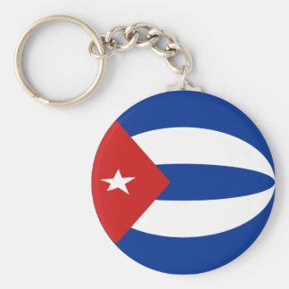 Flagge Keychain Kubas Fisheye Schlüsselanhänger