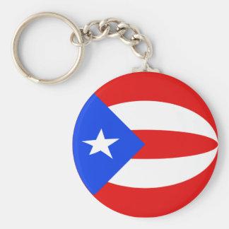 Flagge Keychain Puertos Rico Fisheye Schlüsselanhänger