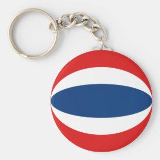 Flagge Keychain Thailands Fisheye Schlüsselanhänger