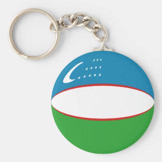 Flagge Keychain Usbekistans Fisheye Schlüsselanhänger