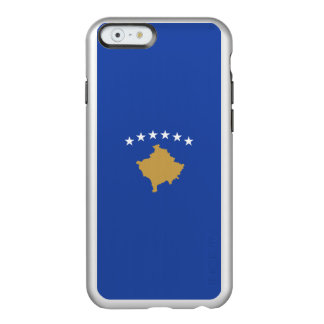 Flagge Kosovo silbernen iPhone Falles Incipio Feather® Shine iPhone 6 Hülle