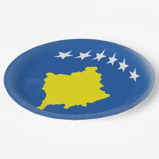 Flagge Kosovos Kosovan Pappteller