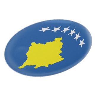 Flagge Kosovos Kosovan Teller