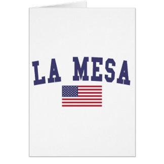 Flagge La Mesa US Karte