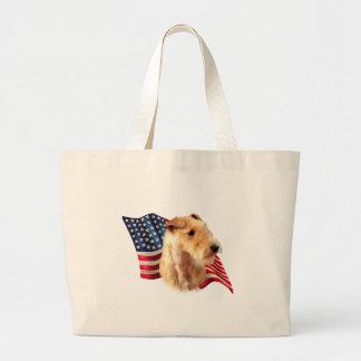 Flagge Lakelands Terrier Jumbo Stoffbeutel