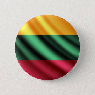 Flagge Litauens wellenartig bewegender pinback Runder Button 5,1 Cm