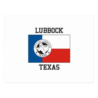 Flagge Lubbocks Texas Postkarte