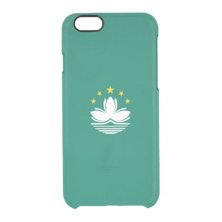 Flagge Macao klaren iPhone Falles Durchsichtige iPhone 6/6S Hülle