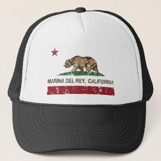 Flagge Marina Del Rey Kalifornien Truckerkappe