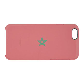 Flagge Marokko klaren iPhone Falles Durchsichtige iPhone 6/6S Hülle