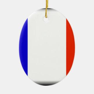 Flagge Mayotten (Frankreich) Ovales Keramik Ornament