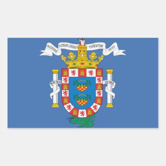 Flagge Melillas (Spanien) Rechteckiger Aufkleber