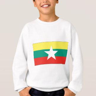 Flagge Myanmars (Birma) Sweatshirt
