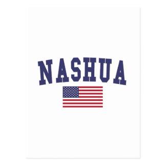 Flagge Nashuas US Postkarte