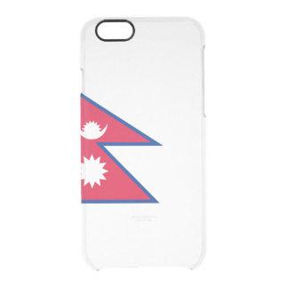 Flagge Nepal klaren iPhone Falles Durchsichtige iPhone 6/6S Hülle