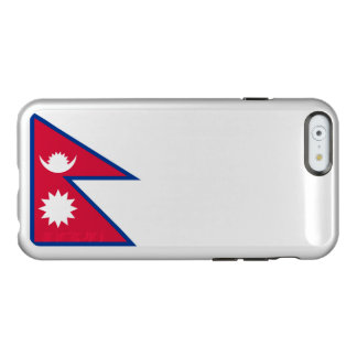 Flagge Nepal silbernen iPhone Falles Incipio Feather® Shine iPhone 6 Hülle