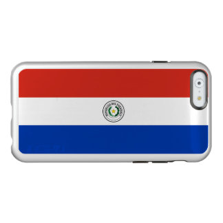 Flagge Paraguay silbernen iPhone Falles Incipio Feather® Shine iPhone 6 Hülle
