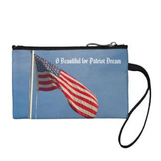 Flagge-Patriot-Traum-Gewohnheit Münzbeutel
