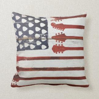Flagge-patriotische Gitarren-Musik Kissen