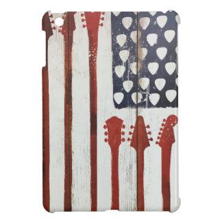 Flagge-patriotisches Gitarren-Musikthema iPad Mini Hülle