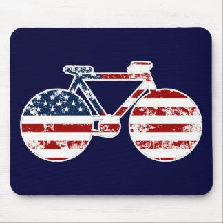 Flagge patriotisches USAradfahren Mousepad