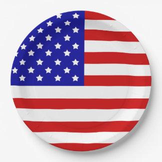 Flagge-Patriotismus-Unabhängigkeitstag am 4. Juli Pappteller