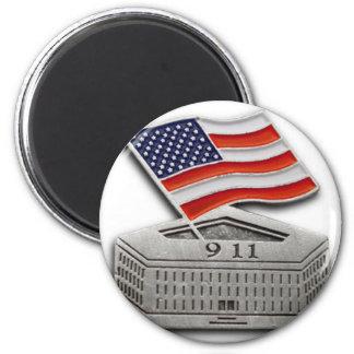 FLAGGE PENTAGONS USA RUNDER MAGNET 5,1 CM