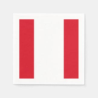 Flagge: Peru Serviette