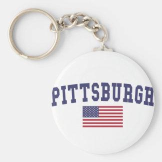 Flagge Pittsburghs US Schlüsselanhänger