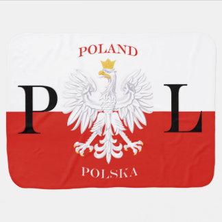 Flagge PL Polens Polska Baby-Decken
