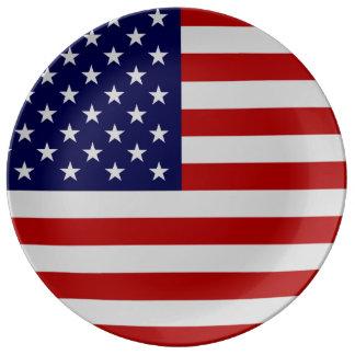 Flagge-Porzellan-Platte Porzellanteller