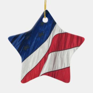 Flagge-Porzellan-Stern-Verzierung Keramik Stern-Ornament