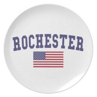 Flagge Rochester Mangans US Teller