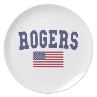 Flagge Rogers US Flache Teller
