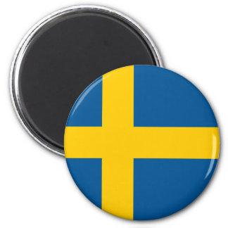 Flagge runden Magneten Schwedens Runder Magnet 5,1 Cm