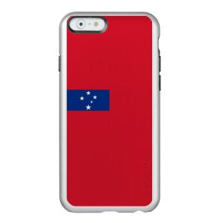 Flagge Samoa-Inseln silbernen iPhone Falles Incipio Feather® Shine iPhone 6 Hülle