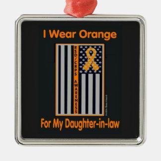 Flagge/Schwiegertochter… RSD/CRPS Quadratisches Silberfarbenes Ornament