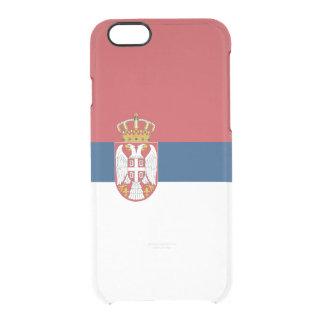 Flagge Serbien klaren iPhone Falles Durchsichtige iPhone 6/6S Hülle