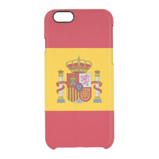 Flagge Spanien klaren iPhone Falles Durchsichtige iPhone 6/6S Hülle