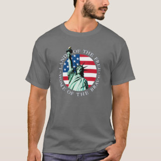 Flagge-Statue-Freiheits-T-Stück T-Shirt