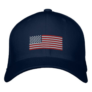 Flagge-Stich-Entwurfs-Baseballmütze Bestickte Baseballkappe