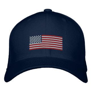 Flagge-Stich-Entwurfs-Baseballmütze Bestickte Kappe