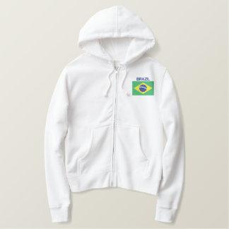 Flagge südamerikanischen Brasilianers Brasiliens Bestickter Hoodie