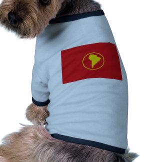 Flagge Südamerikas Antrag Hund Tshirt