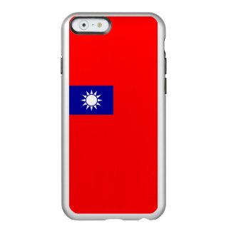 Flagge Taiwan (ROC) silbernen iPhone Falles Incipio Feather® Shine iPhone 6 Hülle